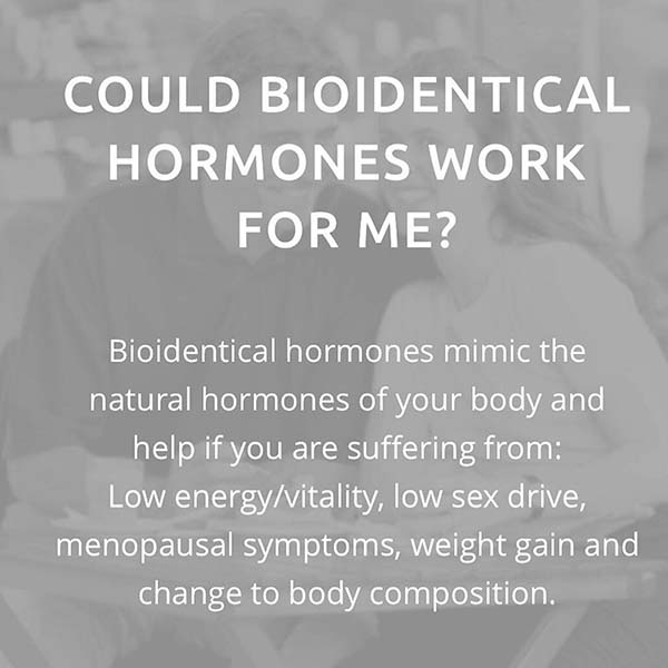 Bioidentical Hormones - For Men Too